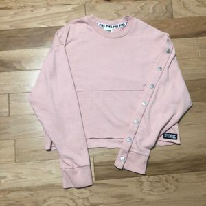 A cropped PINK screw neck.